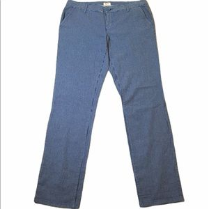 Blue Striped Chinos Size 9